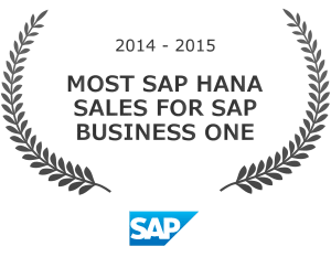 Most SAP Hana Sales For SAP Business One Award